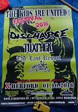 Discharge/toxpack/Argy Bargy: concertposter 2016