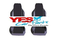HYUNDAI COUPE 02-09 PREMIUM FABRIC SEAT COVERS WHITE PIPING 1+1