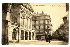 CPA 73 Savoie Chambéry Le Théâtre et la Rue d' Italie animé