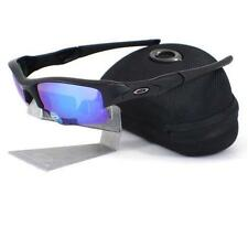 Oakley OO 9009-13 POLARIZED FLAK JACKET XLJ Matte Black Sapphire Mens Sunglasses