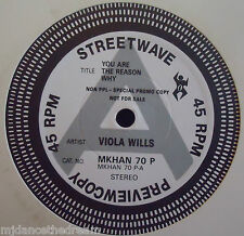 """VIOLA WILLS ~ You Are The Reason Why ~ 12"""" Single PROMO"""