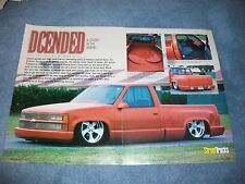 "1995 Custom Step-Side Chevy Truck Article ""Dcended"""