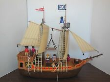 Playmobil Black Beard Pirate Ship 3053 Plus Figures, Manual and More