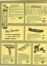 1955 PAPER AD BMC Pedal Car Farm Tractor Toy Outboard Motor Boat Johnny Ferrell