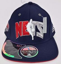New Jersey Nets adidas Climalite Navy Fitted S/M Hat Cap NWT 2-in-1 Flex Bill