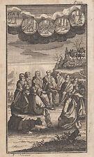 Andreas Nunzer (Norimberga XVIII sec)  Vangelo Gesù acquaforte 1744 (n.36)