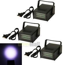 3 x Mini DJ Strobe Light Flash Light Club Stage Lighting Party Disco 24LED White