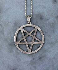 Inverted Pentagram Necklace - Large - Pentacle Magic Symbol Occult Pantacle