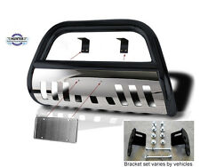 Bull Bar Toyota Tundra 2014-Up Black Stainless Skid Plate grill bumper push bar