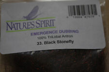 NATURES SPIRIT FLY TYING DUBBING EMERGENCE DUBBING PACK BLACK STONE FLY