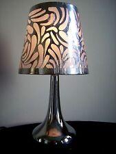 NEW Modern Swirl Touch Lamp Silver Chrome Bedroom Bedside Dimmer Light Lamps