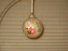 - KREBS LT GOLD ORNAMENT W/ ROSES & GOLD FILIGREE DESIGN