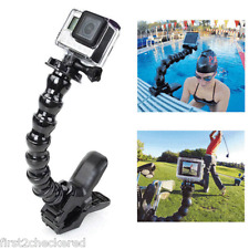Jaws Clamp Mount Holder + Adjustable Flex Neck for Gopro Hero 4 3+ 2 1 Camera