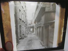 1911 Quebec Canada Mt. Hill Street Cote de la Montagne glass photo slide