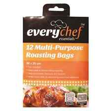 12 PACK MULTI-PURPOSE ROASTING BAGS OVEN SAFE MICROWAVE SAFE EASY TO USE NO MESS