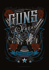 "GUNS N' ROSES FLAGGE / FAHNE ""RECKLESS LIFE"" POSTER FLAG"