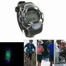 Black Band Sport Watch Calorie Burn Counter Pulse Heart Rate Monitor Wrist Watch