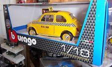 BURAGO 1/18 FIAT 500 TAXI DE NEW YORK N.Y.C. TAXI 1/18 NEUF EN BOITE