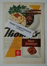 Werbeanzeige/advertisement A5: Thomy's Röst-Zwiebeln 1964 (110816251)