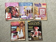 LOT OF 5 NEEDLECRAFT FOR TODAY MAGAZINES 1980's