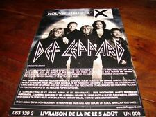 DEF LEPPARD X !!!!!!!!!!!!!!!!!!!!RARE FRENCH PRESS/KIT