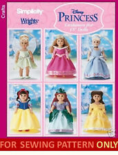 SEWING PATTERN! MAKE DOLL COSTUME~FIT AMERICAN GIRL! CINDERELLA~ARIEL~BELLE!!