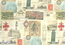 Carta per legatoria, cartonaggio e découpage 50x70 cm - Città della Toscana