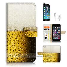 iPhone 7 (4.7') Flip Wallet Case Cover P3359 Beer