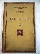 Escriptors Grecs,Dels Deures II Cicero,F.Bernat Metge 1946
