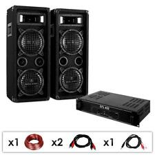 DJ HOUSE PARTY PA SPEAKER AMPLIFIER DISCO BUNDLE SET *FREE P&P SPECIAL OFFER