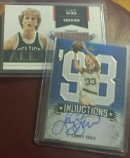 2012/13 Leaf Metal Basketball Blue INDUCTIONS Autograph Of Larry Bird # 9/25