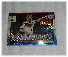 2014 Panini Prizm World Cup Red Blue Plaid Net Finders Lukas Podolski Germany 11
