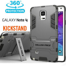 [YELLOW-PRICE Outlet] Samsung Galaxy Note 4 Case [KICK-STAND] Armor SERIES