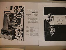 Instructions cine movie projector PAILLARD BOLEX Type G3 G816 G16 - CD/Email