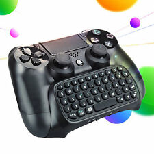 3.5mm Plug Black Mini Wireless Chatpad Message Keyboard for PS4 Controller FL