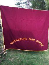 """70"""" x 82"""" Bloomsburg Fair Stake Vintage Lightweight Wool Blanket - Horses?"""