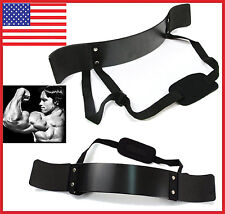 Heavy Duty Arm Isolator Blaster Body Building Bomber Bicep Curl Triceps Bar NEW