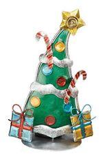 Christmas Tree Tea Light Candle Holder-Metal and Glass