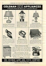 1940 AD Coleman Gas Gasoline Oil Pressure Lamp Lantern Sad Iron Camp Stove Table