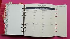 "Filofax Personal Planner Pages "" Meal Planer"" + ""Shopping list"""