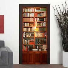 Bookcase Door Wall Stickers Mural Self Adhesive Photo Wallpaper Home Decoration