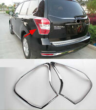 Chrome Rear Tail Light Lamp Cover Trim for 2014-2016 SUBARU FORESTER NEW ABS