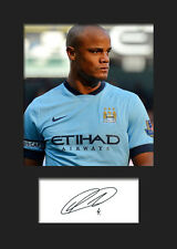 Vincent Kompany - Manchester City Signed Photo A5 Mounted Print - FREE DELIVERY