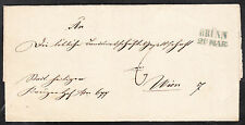 Stampless cover. Germany. Brunn to Vienna. 1844