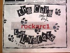 CURE Lovecats 1983 UK Press ADVERT 12X8""