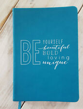 New Blank BE YOURSELF Personal Journal Inspiring Diary Eccolo Turquoise Unique