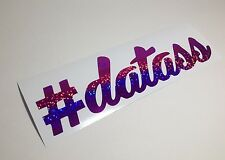 "6"" #datass Cursive Purple Glitter Sticker Vinyl Decal Camber Drift Stance LORDS"
