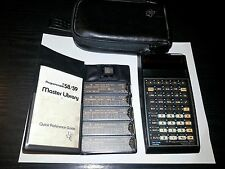 Texas Instruments TI-58C Calculator + Master Library Module