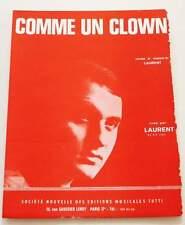 Partition vintage sheet music LAURENT : Comme un Clown * 60's