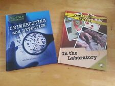 Set of 2 Crime Scene Science Books ~ In The Laboratory & Crime Busting Detection